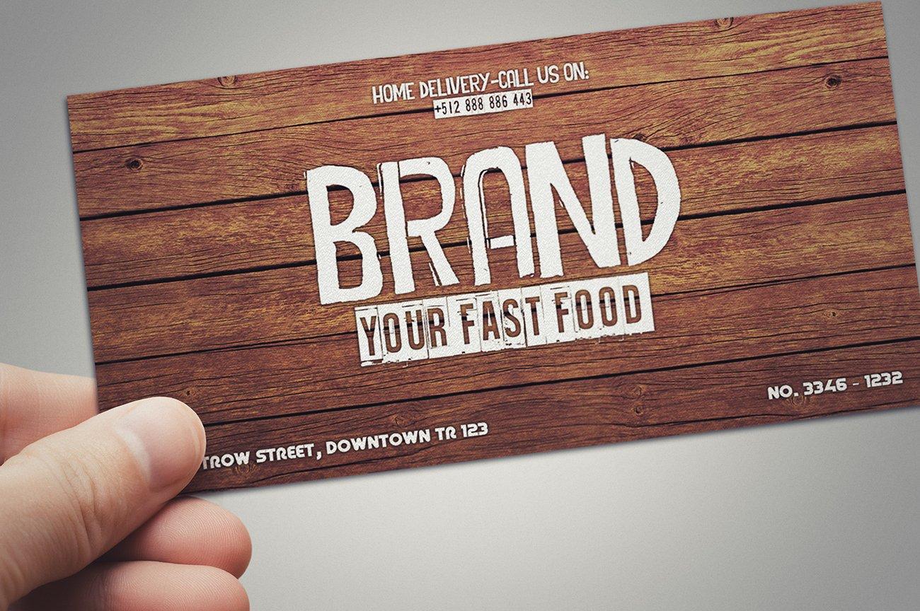 Fast Food Restaurant Gift Card Card Templates Creative