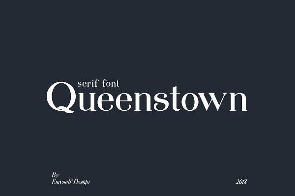 Serif Fonts: emyself design - Queenstown serif font