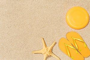 top view of sea star, yellow flip fl