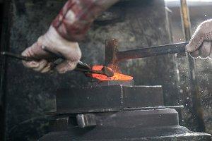 Blacksmith and anvil. Blacksmith