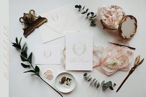 Blush Invitation Styled Photo