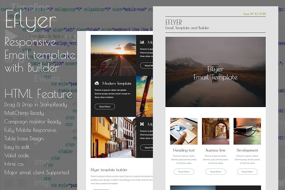 eflyer responsive email template email templates creative market