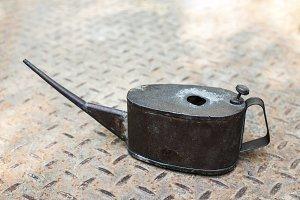 Old vintage lubricator