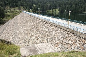 Water supply from a dam