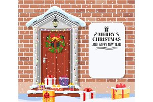 House door decoration for the