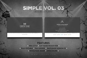 Simple Business Card Vol. 03
