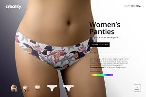 Women's Panties Mockup Set