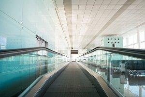 Treadmills in Modern Airport