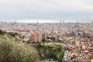 Barcelona Skyline. Spain