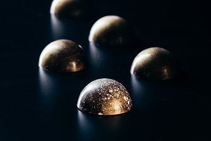 close up view of chocolate candies p