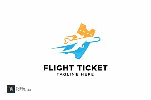 Flight Ticket - Logo Template