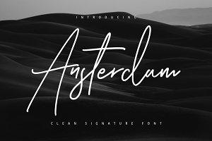 Ansterdam - Clean Signature Font