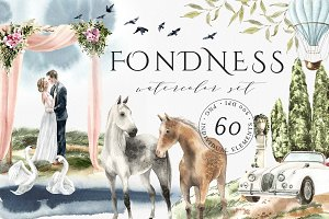 Fondness – watercolor set