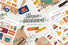 Holiday paper decorations by  in Illustrations