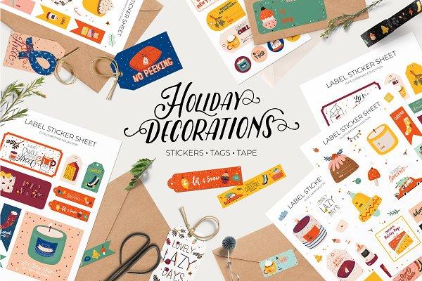 Graphics: Ruslana Vasiukova - Holiday paper decorations