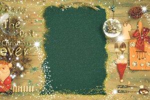 Christmas menu background and holida