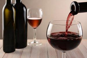 Wine Pour Still Life