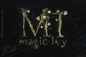 Magic Ivy Botanical Font