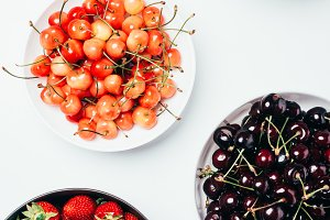 top view of fresh ripe tasty summer