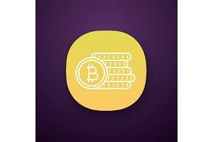 Bitcoin coins stack app icon