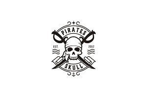 Skull & Crossing Swords, Pirate Logo