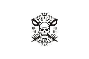 Skull & Crossing Swords, Pirate Logo