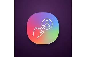 Hiring staff button app icon