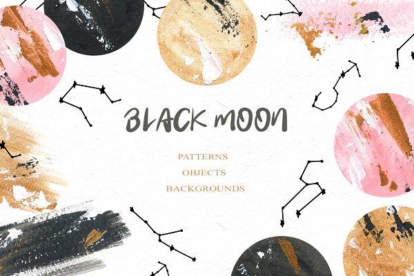 Graphics: SpringArtsShop - Black Moon clipart