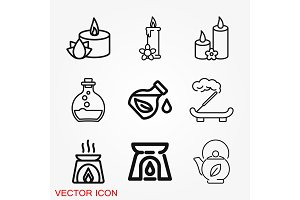 Aromatherapy icon, accessory for