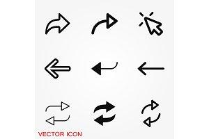 Arrows icon. Arrow for the website