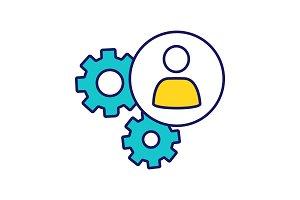 HR management color icon