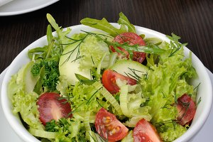 Light summer vegetable salad
