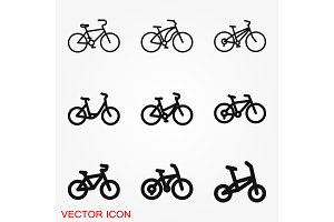 Bicycle icon. Vector element