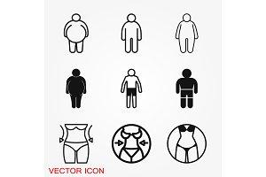 Body icon in flat minimal design