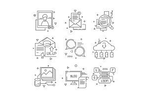 Social media communication icon. Web