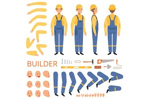Builder character animation. Body