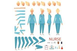 Nurse animation character. Hospital