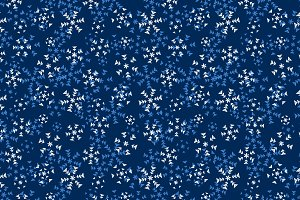Grunge snowflakes on dark pattern