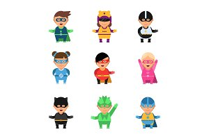 Kids superheroes. Cartoon 2d game