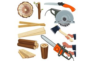 Wood materials. Wooden production
