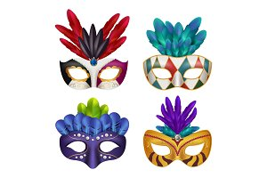 Carnival masks. Masquerade party