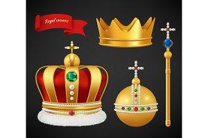 Royal crowns. Luxury premium