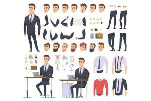 Manager creation kit. Businessman