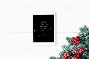Holiday iPAD mockup