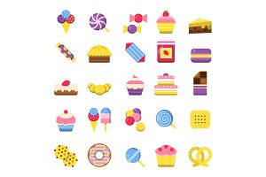 Sweets icon. Chocolate candy