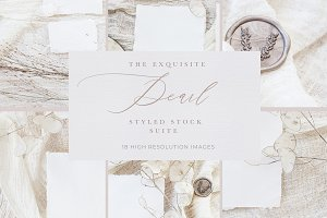 Floral Vintage Wedding Mock Ups