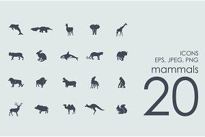 20 mammals icons