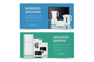 Appliances shopping. Advertising of