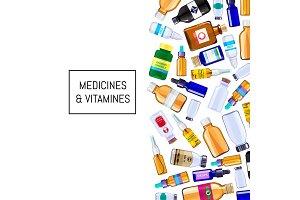 Vector color pharmacy medicine