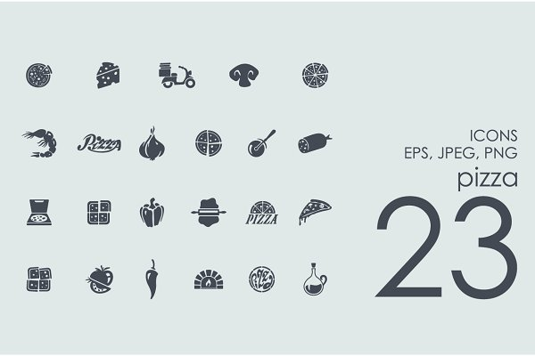23 pizza icons